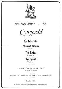 Gwyl Fawr 1987
