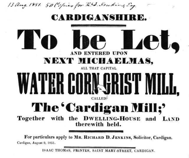 To Let: Cardigan Mill