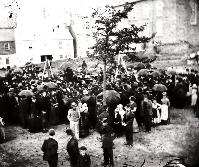 Laying the foundation stone of Mount Zion