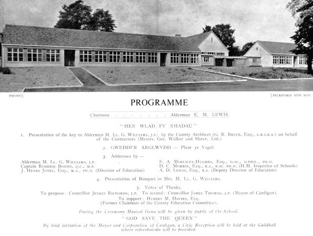 Official Programme of the opening of the Infants' School
