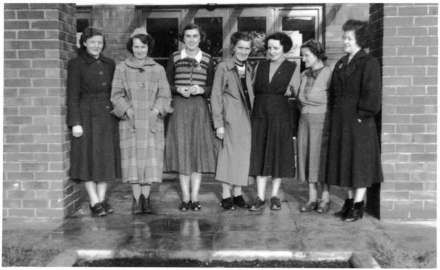 ?, Mrs May Davies, Miss Gwyneth Morris, Mrs Street, Mrs Nath Evans, Miss H. J. Williams, Mrs Annie Rees