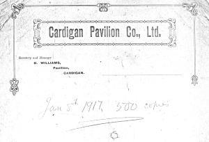 Headed notepaper 8.1.1917