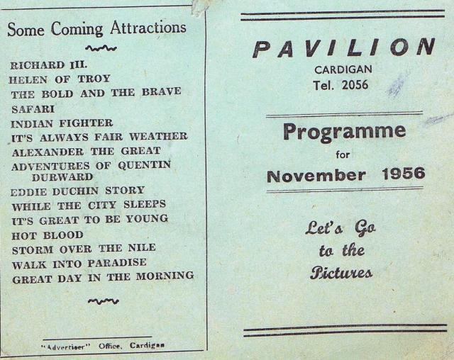Pav Programme November 1956