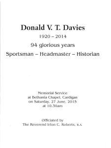 Memorial Service 27.6.2015